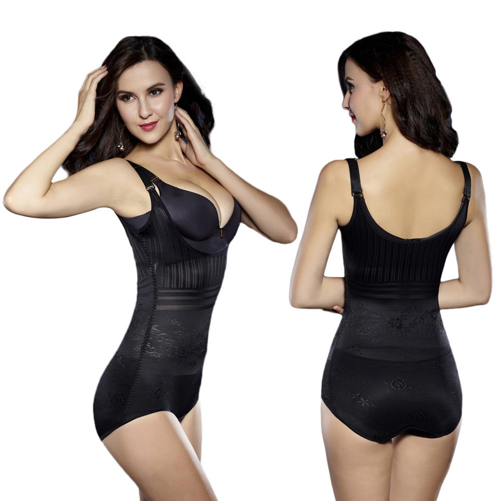 Lady Corsets Control Waist Shaper Full Length Tummy Strap Skinny Bodysuit Top | Edlpe