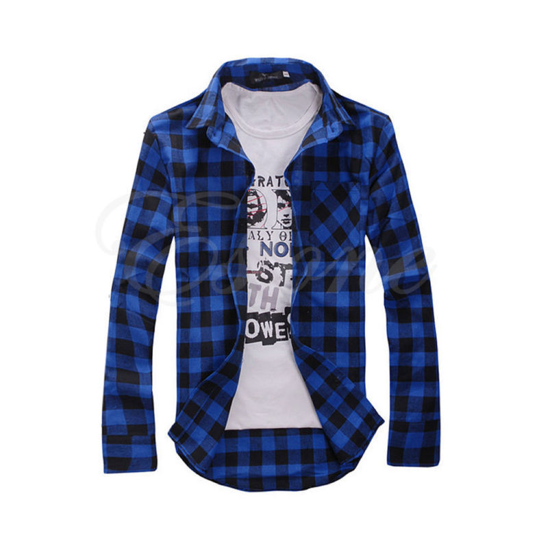 Mens Check Shirt Brave Soul Flannel Brushed Cotton Long Sleeve Casual Top | Edlpe