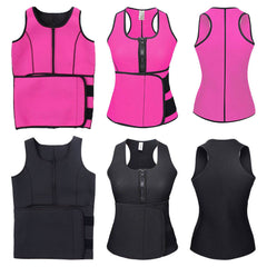 Women Neoprene Waist Body Shapewear Push Up Sweat Slimming Belt Vest Top