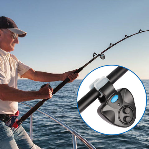 Electronic Led Light Fish Bite Sound Alarm Bell Indicator Clip On Fishing Rod | Edlpe