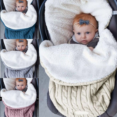 Newborn Baby Knit Crochet Swaddle Wrap Swaddling Blanket Soft Warm Sleeping Bag | Edlpe