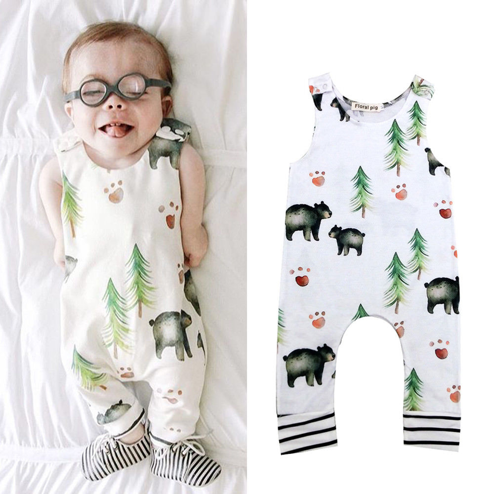 Newborn Infant Baby Boy Girl Bodysuit Romper Jumpsuit Outfits Clothes | Edlpe