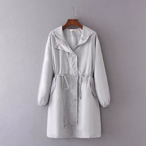 Womens Plus Size Long Sleeve Jacket Windproof Casual Coat Outwear Top | Edlpe