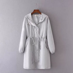 Womens Plus Size Long Sleeve Jacket Windproof Casual Coat Outwear Top