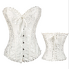 Image of Womens Bridal Boned Brocade Corset Waist Training Bustier Fancy Dress Plus Size | Edlpe