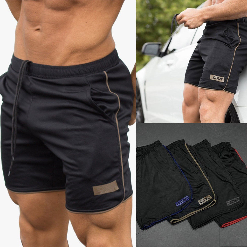 Mens Sports Training Bodybuilding Summer Shorts Workout Fitness Gym Short Pants Plus Size | Edlpe