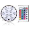 Image of Rgb Led Underwater Light Remote Control Pond Submersible Ip68 Waterproof 16Colors/10Leds 5050Smd | Edlpe