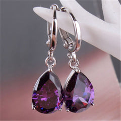 Women Fashion Jewelry Sterling Silver Pendant Earrings Gift For Female