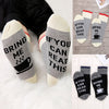 Image of Personalised Women Men Socks If You Can Read This Bring Me Red&grey Funny Socks Unisex Socks | Edlpe
