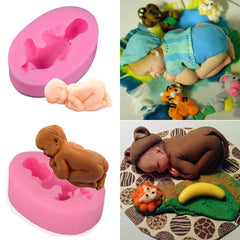 Silicone 3D Sleeping Baby Mold Cookware Dining Bar Non-Stick Cake Decorating Fondant Mould | Edlpe