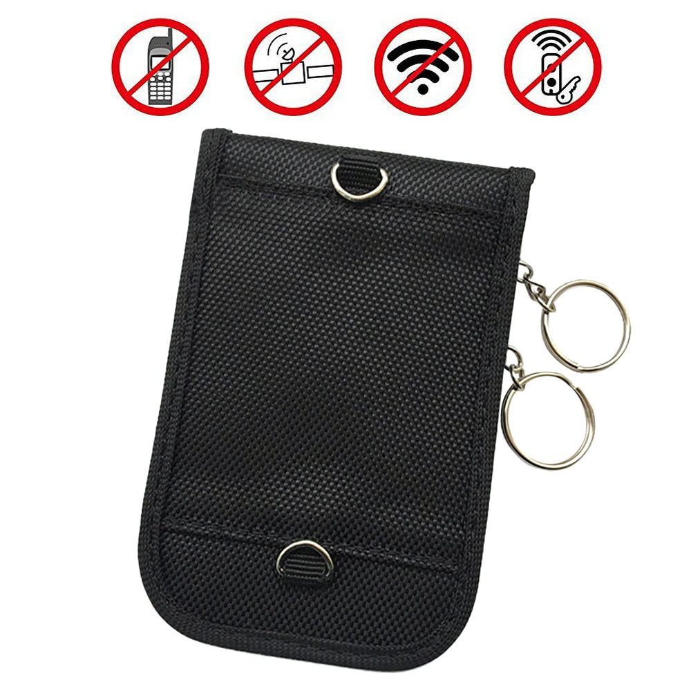 Black Pouch Unisex Signal Blocker Keyless Entry Fob Guard Faraday Bag Car Key Holder | Edlpe