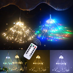 100LEDs 150LEDs Waterproof 8 Functions LED Firework Light Copper Wire LED Fairy String Light