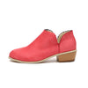 Image of Women Floral Edge Ankle Boots Ladies Low Heel Slip On Shoe Solid Color Booties | Edlpe