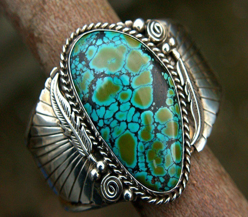 Womens Vintage Turquoise Feather Ring Ladies Birthday Engagement Jewelry Gift Size 6-10 | Edlpe