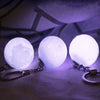 Image of 3D Printing Moon Lamp Night Light Keychain High Technical 3D Moon Light Led Keychain | Edlpe