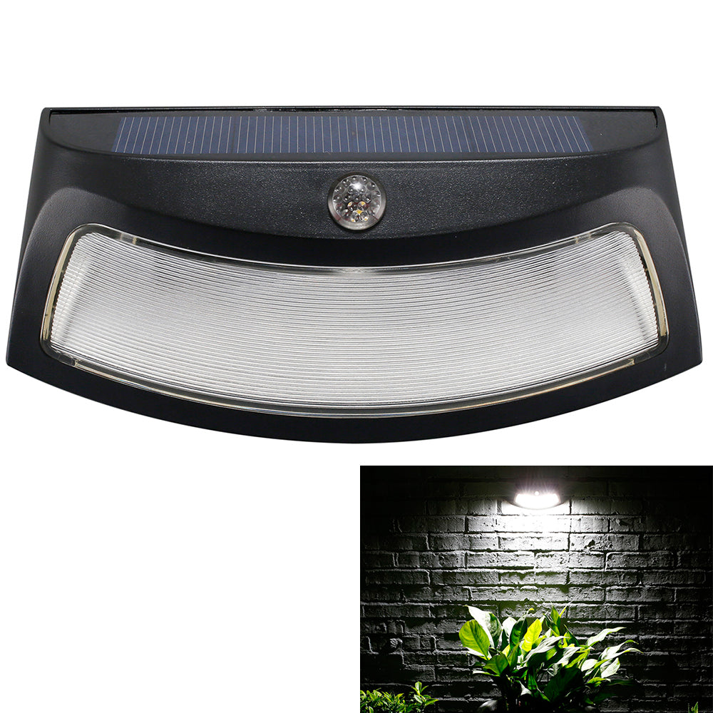 Solar Power Pir Motion Detection Waterproof Outdoor Led Wall Light Wireless Security Step Night Lamp | Edlpe