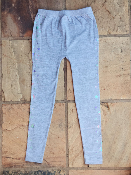 Kiddies Grey Stars Winter Leggings