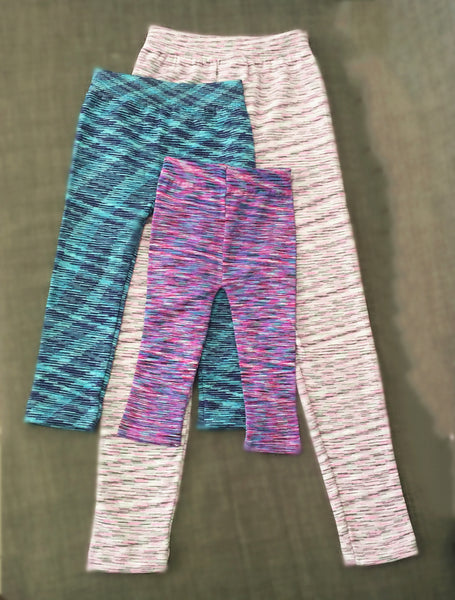 Kiddies Marble Knitted Winter Leggings