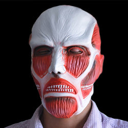attack on titan anime cosplay latex colossal titan mask