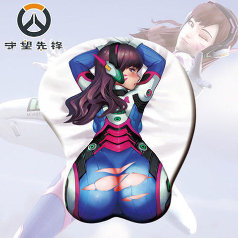 d.va sexy butt mouse pad gaming overwatch