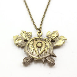 world of warcraft bronze horde crest pendant video games necklace