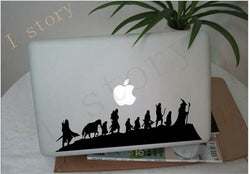 lord of the rings fellowship of the ring frodo gandalf aragorn laptop wall sticker