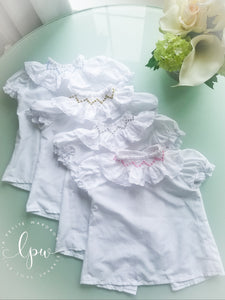 Smocked Shirt with bubble sleeves