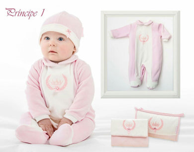 Baby Velour Principe Baby Pink