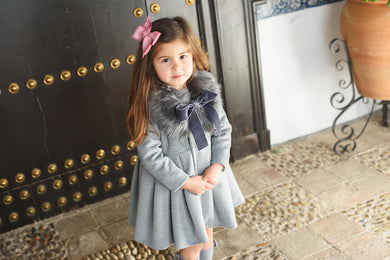 Baja Costura Winter Coat with detachable fur collar
