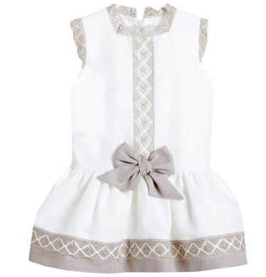 DULCE DE FRESA Lace Bow Dress
