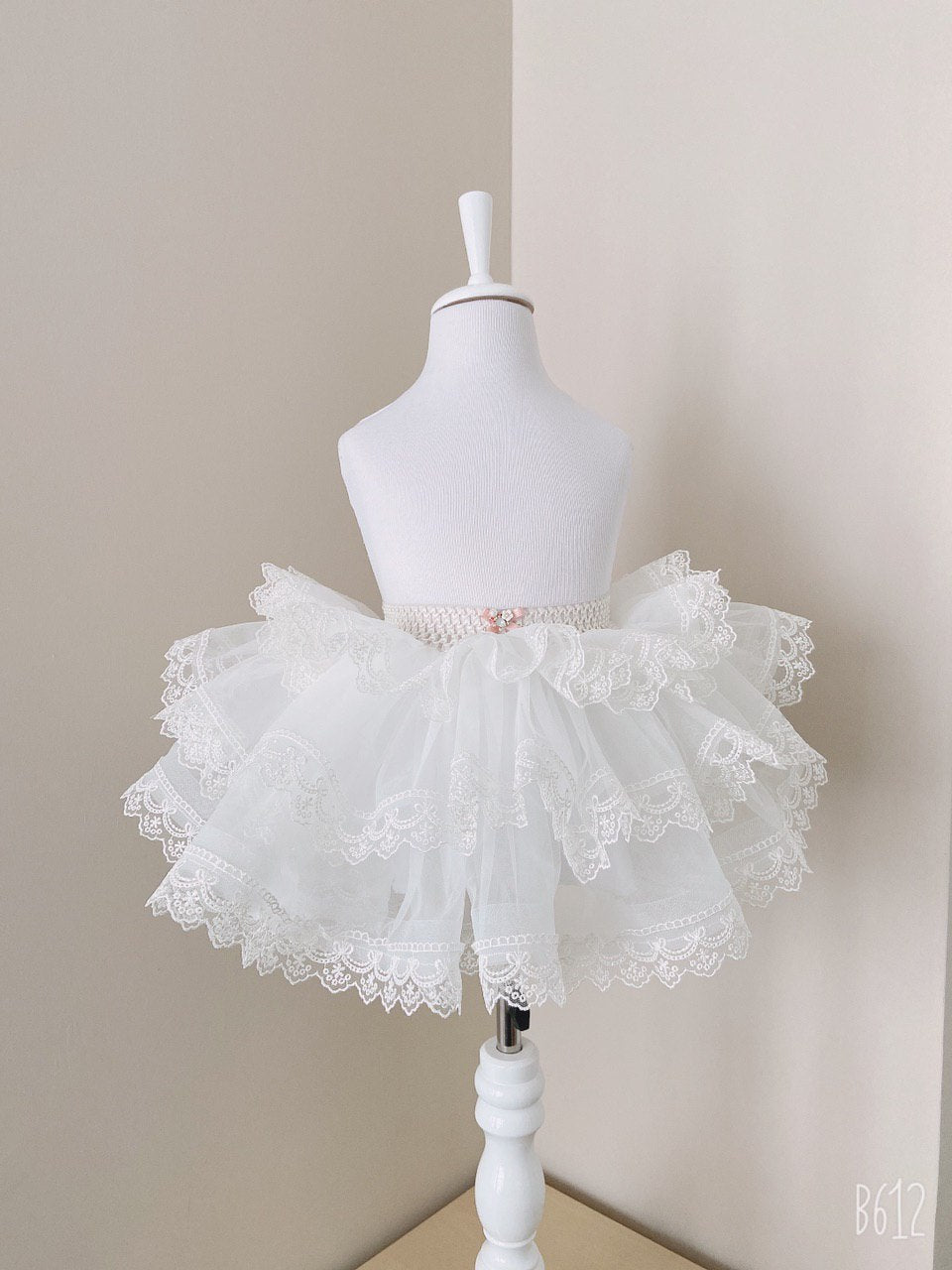 Petticoat with ruffled lace