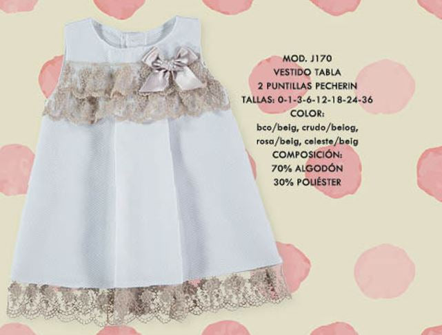 White toddler dress with lace