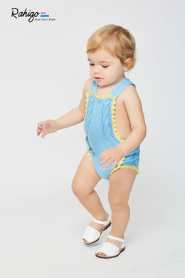 Rahigo boys romper and cardigan set