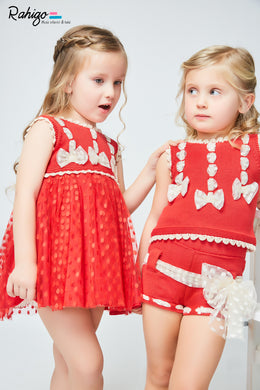 Rahigo girls 3pcs short set with cardigan