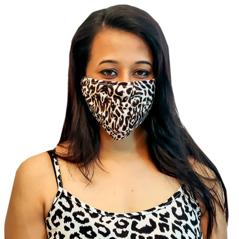 Face Mask, Washable Reusable Animal Print Face Masks For Health Protection n Skin Care Unisex Mouth Filter Facemask, Soft Dri-Fit Handmade in India, Nose to Chin Mud & Pollution Dust Cover - SET OF 3