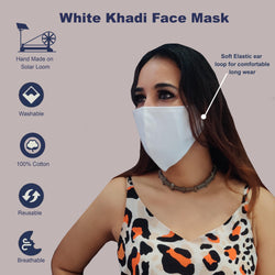 WOOP Face Mask with Pocket, Washable Reusable 100% Cotton Face Masks Health Protection n Skin Care Unisex Mouth Filter Eco Friendly Facemask, Hand Made in India, Mud & Pollution Dust Cover - SET OF 5 - Divya Mantra