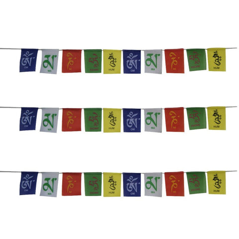 Divya Mantra Combo Set Of Three Tibetian Buddhist Prayer Flags For Motorbike - Divya Mantra