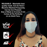 WOOP Face Mask with Pocket, Washable Reusable 100% Cotton Face Masks Health Protection n Skin Care Unisex Mouth Filter Eco Friendly Facemask, Hand Made in India, Mud & Pollution Dust Cover - SET OF 5