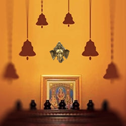 Home Wall Decor Hanging Indian Brass Items Diwali Pooja Mandir Decorations Hindu House Puja Art Decoration Statue Temple Kitchen Decorative Showpiece Parrot Pair Entrance Door Good Luck Symbol - Gold