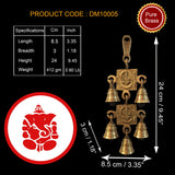 Divya Mantra Om Ganesh Home Wall Decor Hanging Brass Items Diwali Pooja Mandir Decorations House Puja Art Decoration Statue Temple Kitchen Decorative Showpiece Toran Hindu Lucky Vastu Symbols - Gold - Divya Mantra
