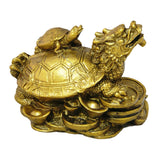 Divya Mantra Feng Shui Dragon Headed Tortoise With Baby - Divya Mantra