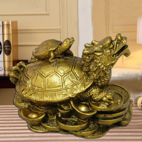 Divya Mantra Dragon Headed Tortoise With Baby - Divya Mantra