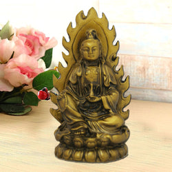 Divya Mantra Lady Buddha / Guan Yin / Kwan Yin / Kuan Yin Goddess of Mercy and Compassion Idol Sculpture Statue Murti - Divya Mantra