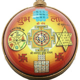 Divya Mantra Hanging Maha Yantra in Heavy Brass - 5 in 1
