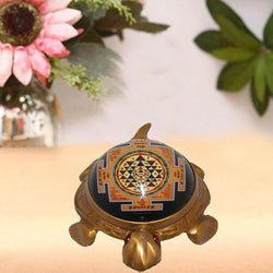 Divya Mantra Shree Yantra on Tortoise Large 20X14.5 CM - Divya Mantra