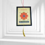 Divya Mantra Sri Vastu Maha Yantra Talisman Gift Pendant Amulet for Car Rear View Mirror Decor Ornament Accessories/Good Luck Charm Protection Interior Wall Hanging Showpiece