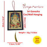 Divya Mantra Sri Ganesha Talisman Gift Pendant Amulet for Car Rear View Mirror Decor Ornament Accessories/Good Luck Charm Protection Interior Wall Hanging Showpiece