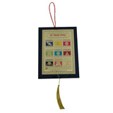 Divya Mantra Sri Navgraha Yantra Talisman Gift Pendant Amulet for Car Rear View Mirror Decor Ornament Accessories/Good Luck Charm Protection Interior Wall Hanging Showpiece - Divya Mantra