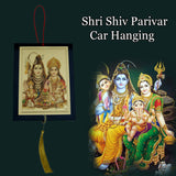 Divya Mantra Sri Shiv Parivar Talisman Gift Pendant Amulet for Car Rear View Mirror Decor Ornament Accessories/Good Luck Charm Protection Interior Wall Hanging Showpiece