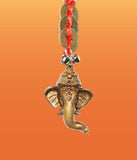 Divya Mantra Combo Of Tibetan Car Prayer Flag With Orange Flying Hanuman Car Hanging and Lord Ganesha Coin Keychain - Divya Mantra